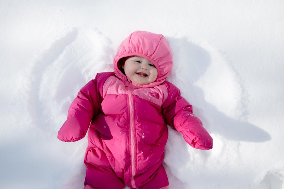 snow angel baby photography