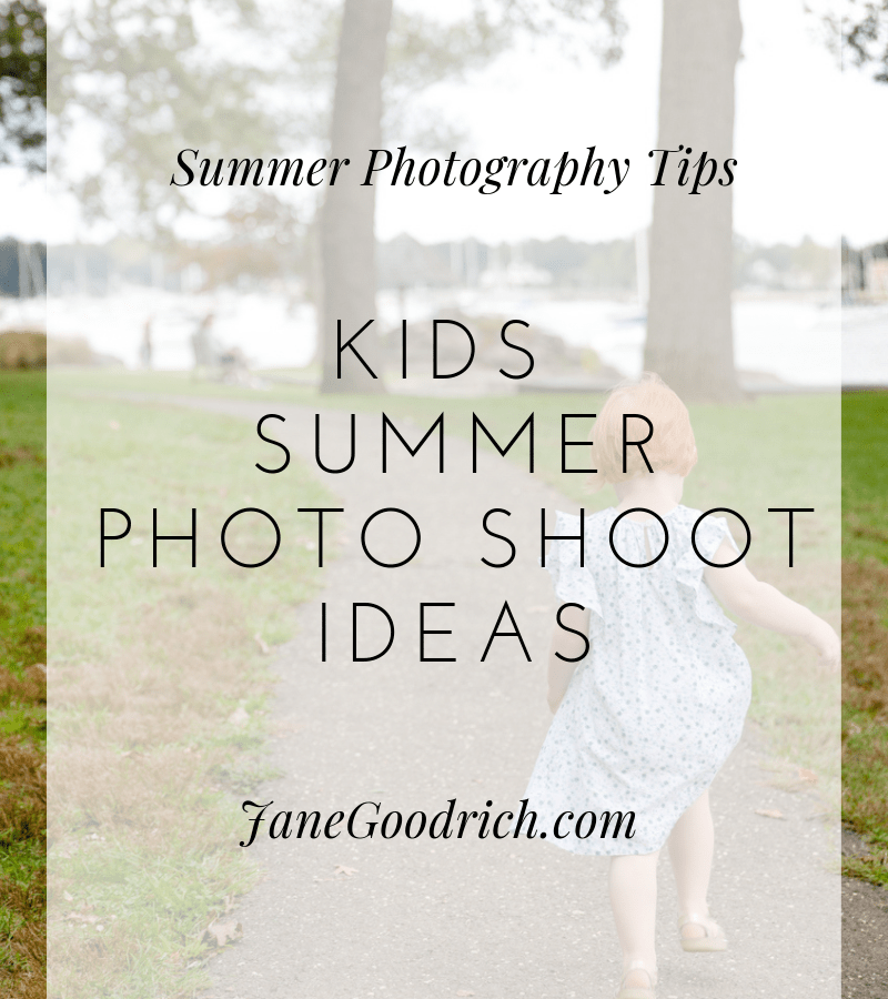 Kids summer photo shoot ideas by Jane Goodrich