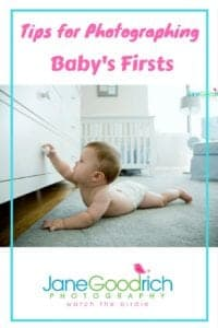 Taking amazing pictures for baby's firsts