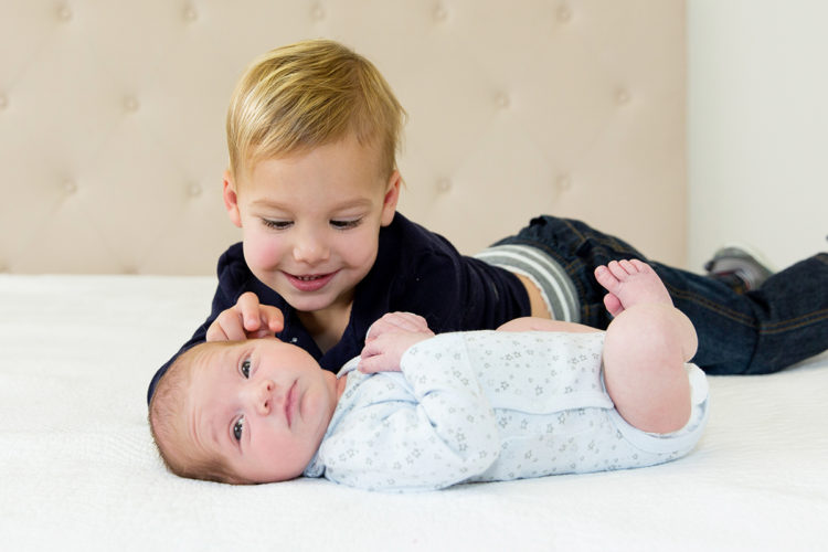 big brother and little brother newborn photoshoot