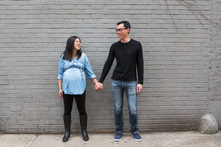 edgy maternity photography in NYC