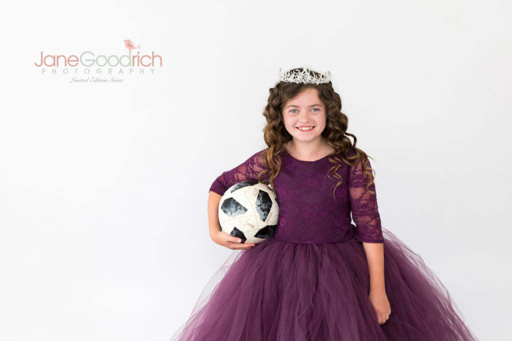 sporty princess soccer girl and couture dress