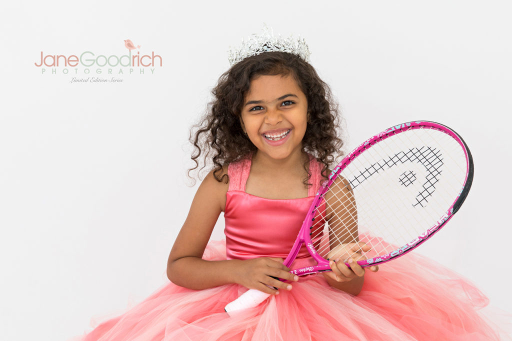 sporty princess tennis and couture dress