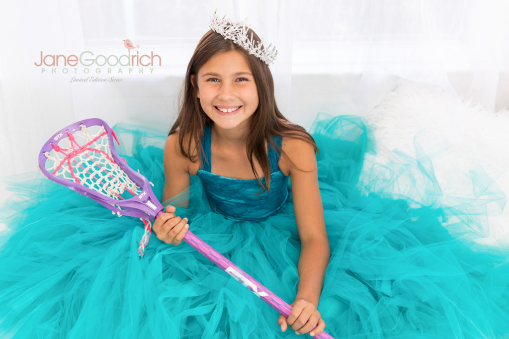 sporty princess lacrosse and couture dress