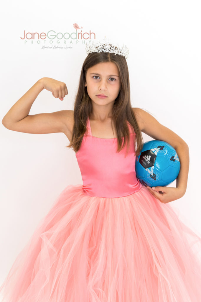 sporty princess soccer girl and couture dress up